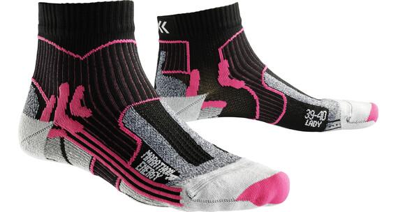 X-Socks Marathon Energy - Calcetines Running Mujer - rosa/negro